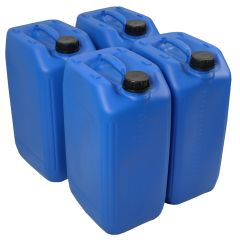 25 Litre Stackable Plastic Jerry Can - UN Approved - x4 Pack