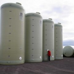 40000 Litre Vertical GRP One Piece Storage Tank
