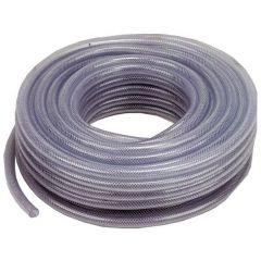 """1/2"""" Clear Braided PVC Hose - 30 Metre Coil"""