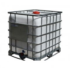 1000 Litre Reconditioned IBC - White - Steel Pallet - Grade A
