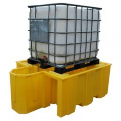 Single IBC Spill Containment Pallet with Integrated Dispensing Area