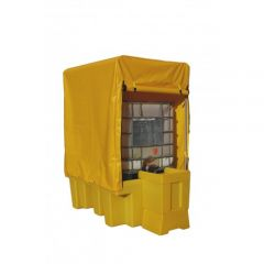 Single Covered IBC Spill Containment Pallet