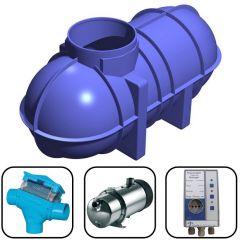 2600 Litres Direct Pressure Underground Rainwater Harvesting System