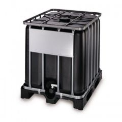 "1000 Litre Reconditioned IBC - Black - 2"" Valve - Grade B"