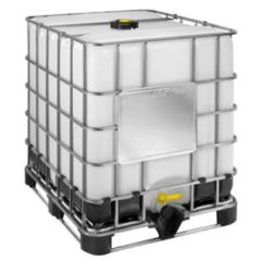 "1000 Litre Reconditioned IBC - 2"" Valve - White - Steel Pallet - Grade B"