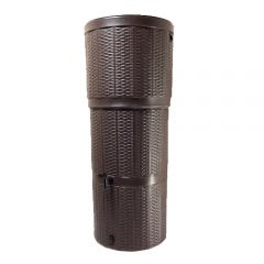 Rattan Effect 150 Litre Poly Water Butt Kit