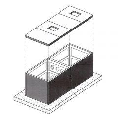 20000 Litre Concrete Modular Water Tank