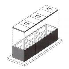 30000 Litre Concrete Modular Water Tank