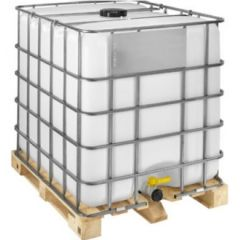 1000 Litre Rebottled IBC - 220mm Lid - Timber Pallet